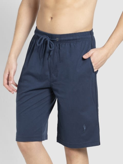Insignia Blue & Navy Knit Sport Shorts
