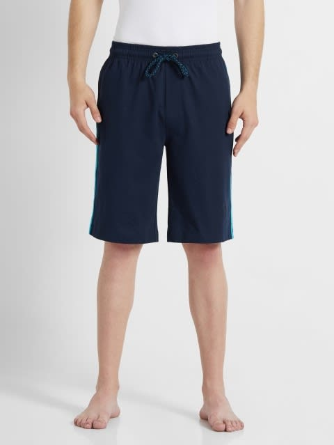 Navy & Scuba Blue Knit Sport Shorts