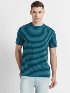 Performance Green & Navy Crew neck T-shirt