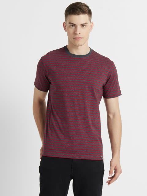 True Black & Shanghai Red Crew neck T-shirt