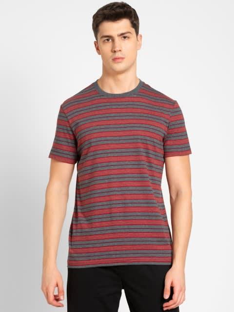 Charcoal Melange & Navy T-Shirt