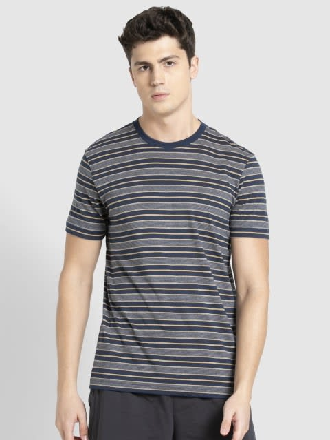 Ink Blue & Midgrey T-Shirt