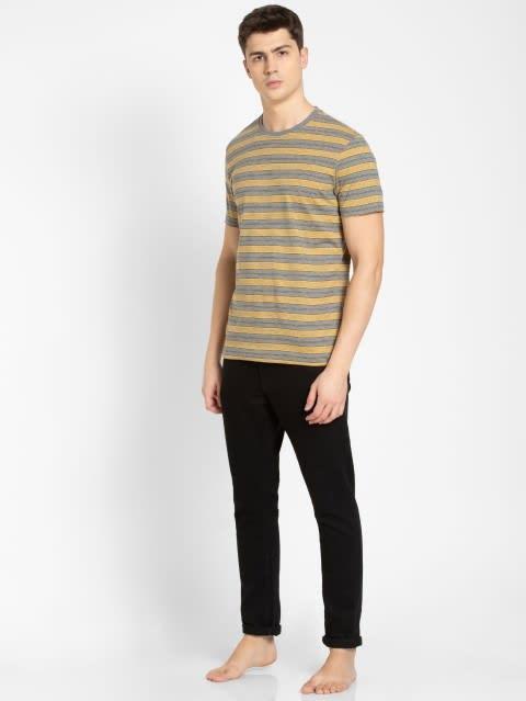 Mid Grey & Burnt Gold T-Shirt
