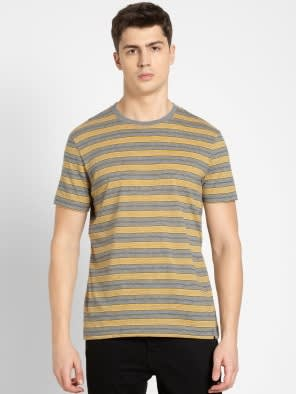 Mid Grey & Burnt Gold T-Shirt