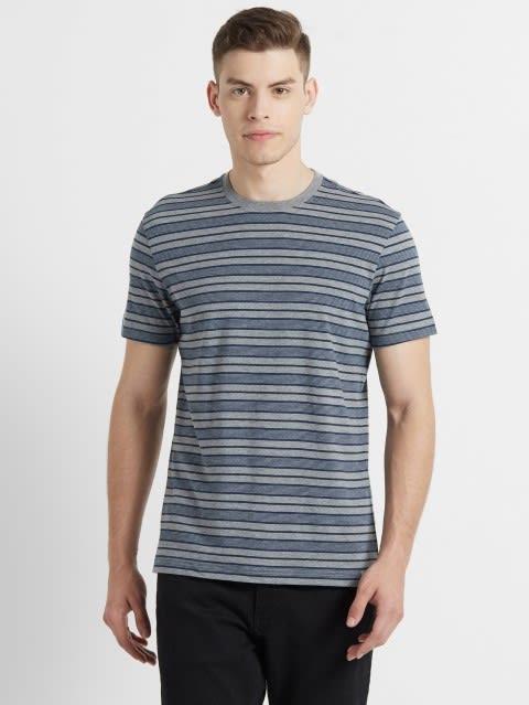Mid Grey & Insignia Blue T-Shirt