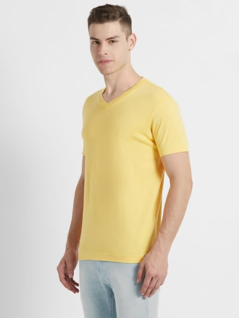 Corn Silk V-Neck T-shirt