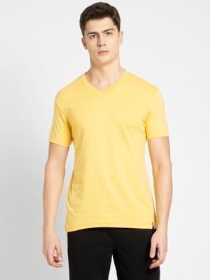Corn Silk V-Neck T-shirt