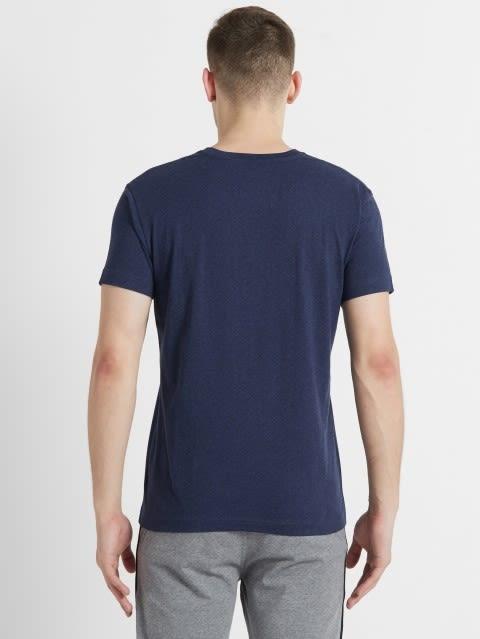Ink Blue Melange V-Neck T-shirt