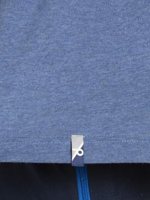 Light Denim Melange V-Neck T-shirt