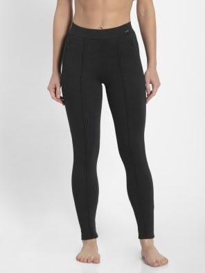 Black Melange Treggings