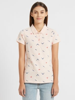 Ballet Pink Assorted Prints POLO T-Shirt