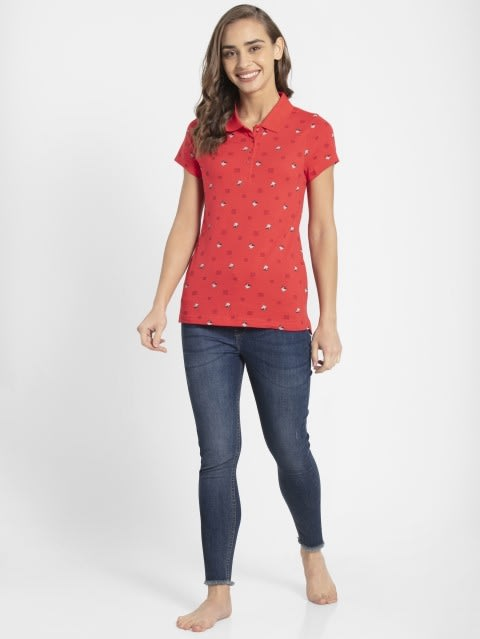 Hibiscus Assorted Prints POLO T-Shirt