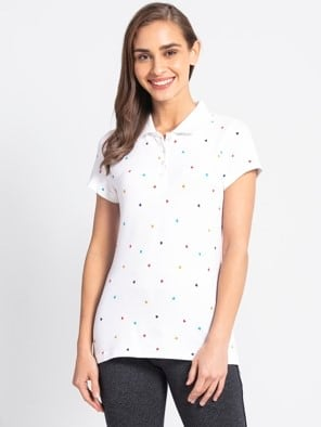White Assorted Prints POLO T-Shirt