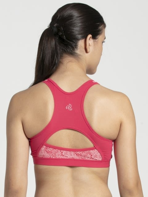 Ruby Assorted Printed Power Back Padded Active Bra
