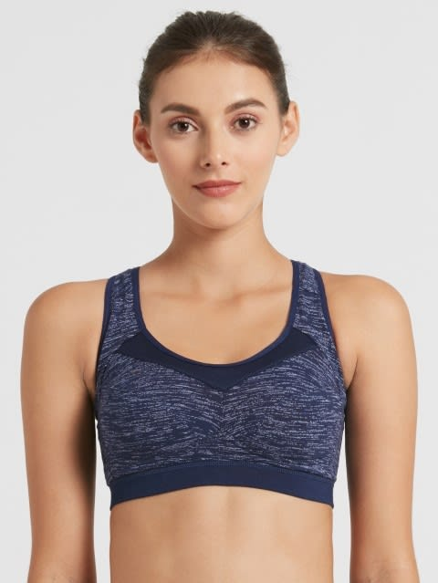 Imperial Blue Assorted Prints Active Bra