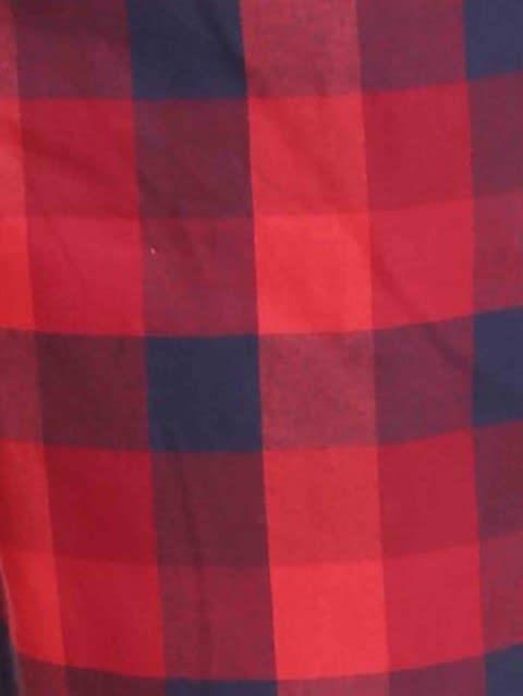 Red & Navy Woven Bermuda