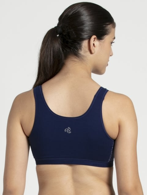 Imperial Blue Assorted Prints Slip On Active Bra