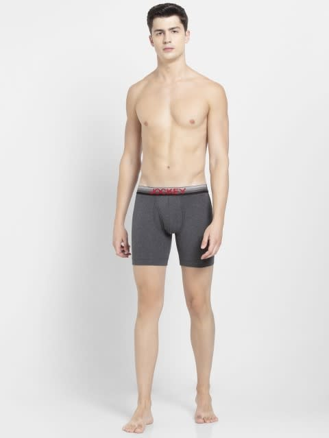 Charcoal Melange Boxer Brief