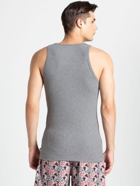 Mid Grey Melange Assorted Prints Vest