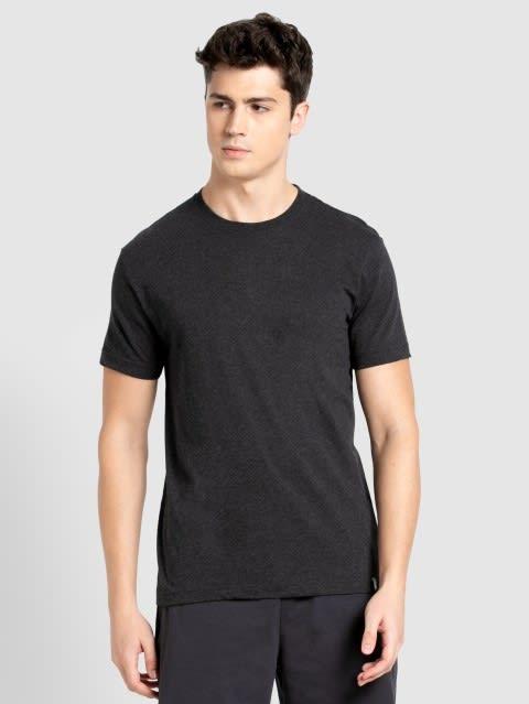 Black Melange Sport T-Shirt