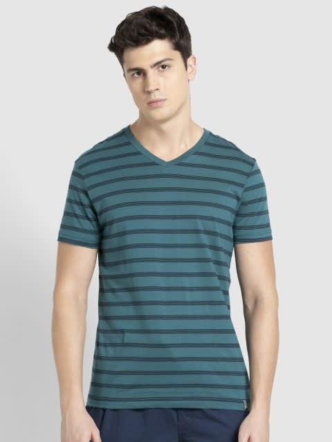 Pacific Green & Navy T-Shirt