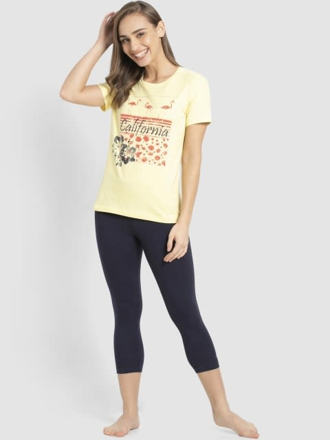 Popcorn Yellow Crew Neck Graphic T-shirt