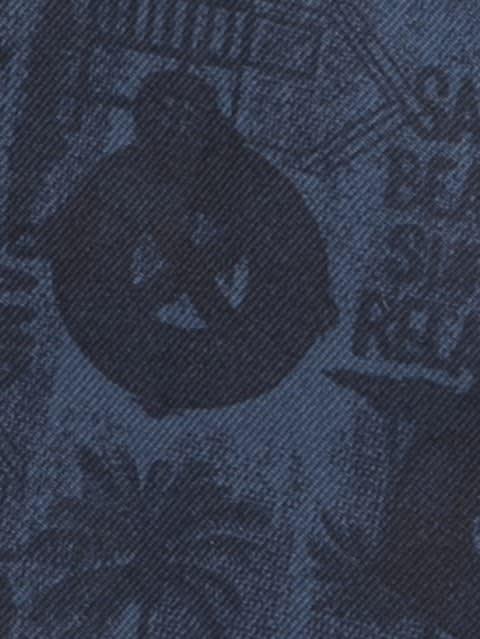 Insignia Blue Printed Woven Bermuda