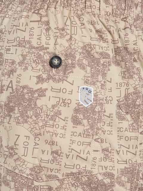 Khaki Printed Woven Bermuda