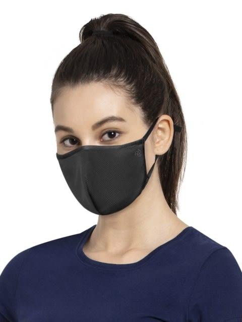 Black Unisex Face Mask Pack of 2