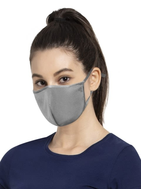 Performance Grey Unisex Face Mask Pack of 2