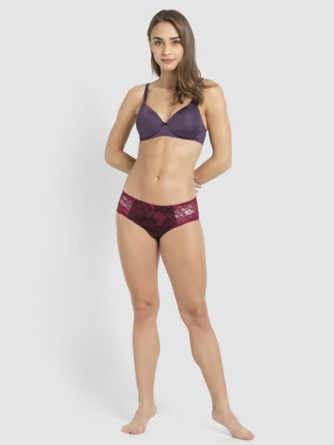Purple Cosmos T-Shirt Bra
