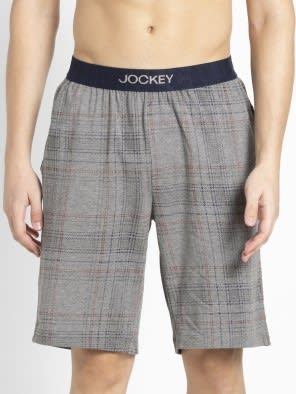 Mid Grey Melange & Ash Grey Regular Fit Shorts