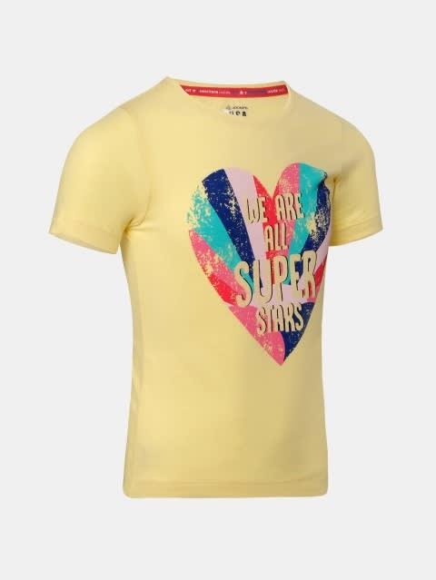 Popcorn Yellow Girl's Graphic T-Shirt