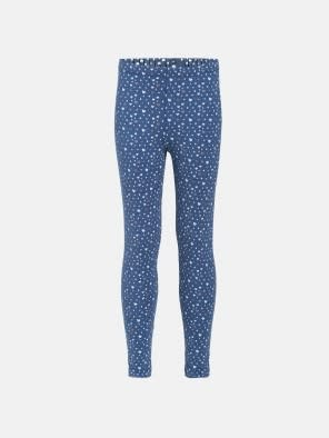Denim Melange Printed Leggings