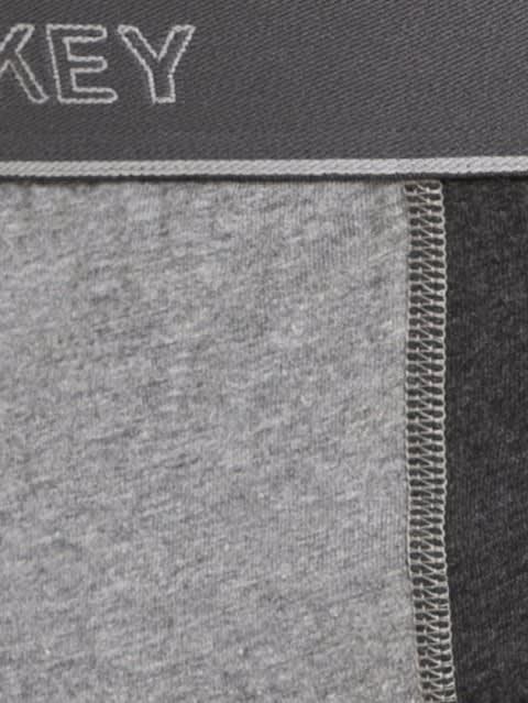 Black Melange & Mid Grey Melange Fusion Brief Pack of 2