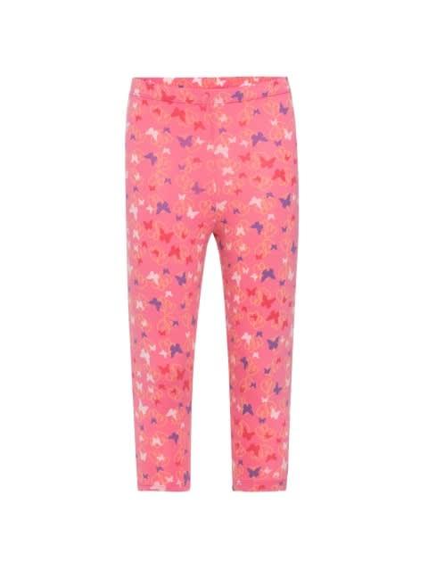 Pink Carnation Print Leggings