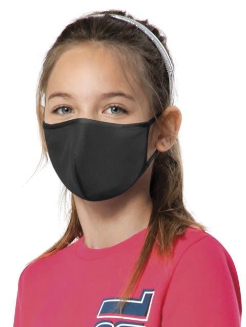 Black Kids Unisex Face Mask Pack of 2