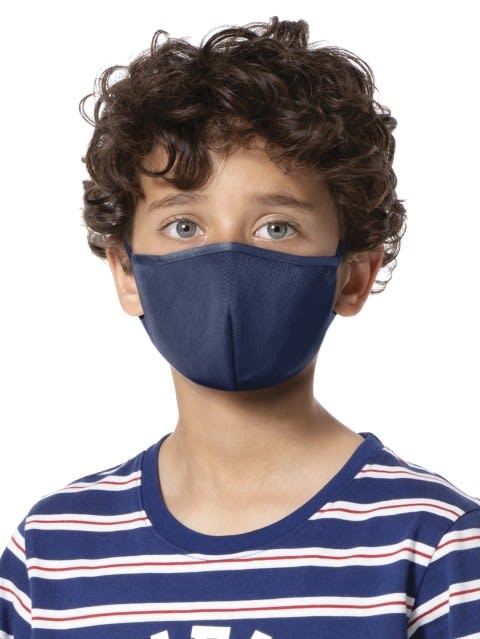 Imperial Blue Kids Unisex Face Mask Pack of 2
