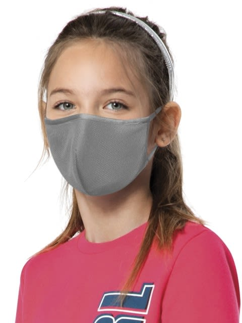 Performance Grey Kids Unisex Face Mask Pack of 2