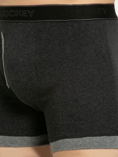 Black Melange & Mid Grey Boxer Brief