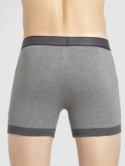 Mid Grey & Charcoal Boxer Brief
