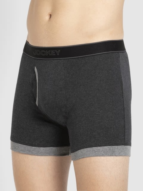 Black Melange & Mid Grey Boxer Brief Pack of 2