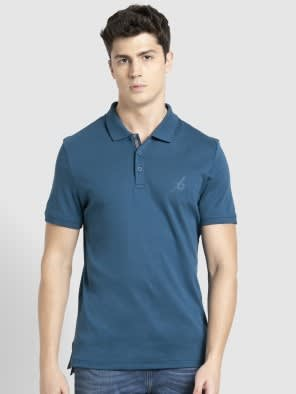 Seaport Teal Sport Polo T-Shirt