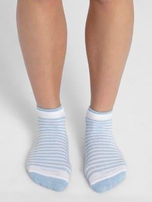 White& Sky Melange Women Low show socks Pack of 2