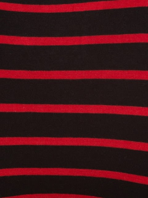 Black & Wordly Red Striped Brief