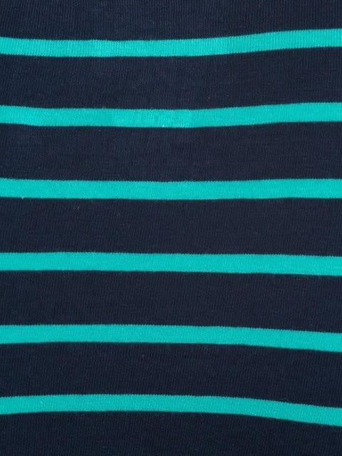 Navy Blue & Billiard Green Striped Brief