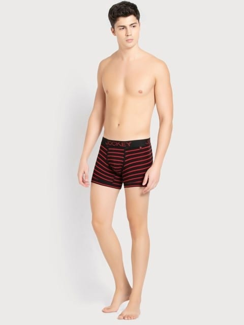 Black & Wordly Red Striped Trunk