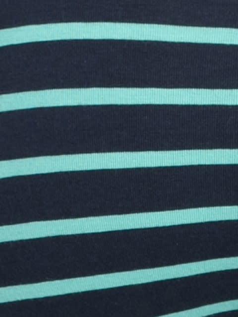 Navy Blue & Billiard Green Striped Trunk