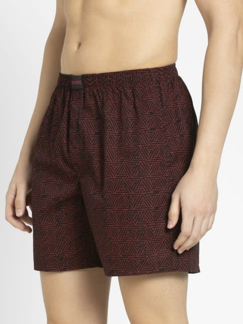 Black & Red Print50 Boxer Shorts