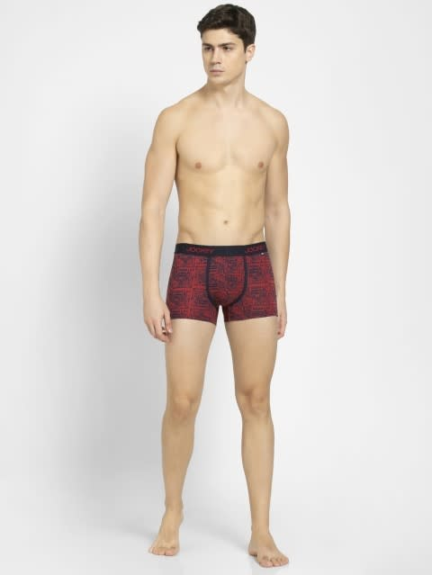 Red & Navy 46 Printed Trunk